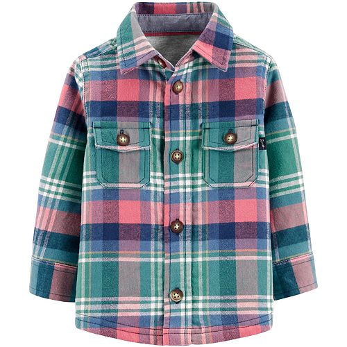 Baby Boy OshKosh B'gosh® Jersey-Lined Flannel Shirt