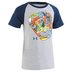 Boys 4-7 Under Armour Baseball Glove Raglan Graphic Tee