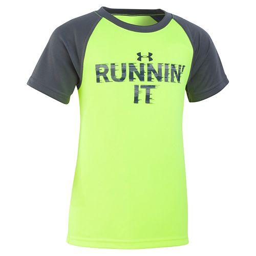 "Boys 4-7 Under Armour ""Runnin' It"" Raglan Graphic Tee"