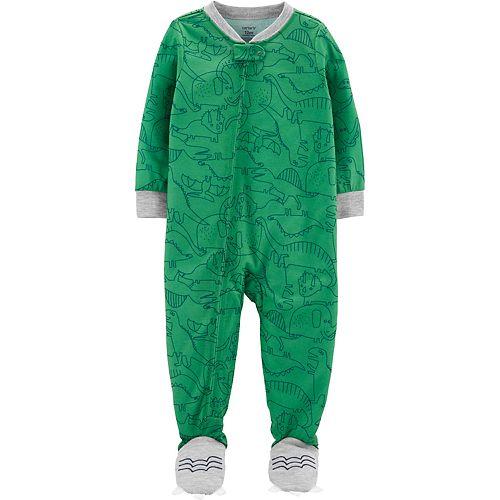 Toddler Boy Carter's Dinosaur Footed Pajamas