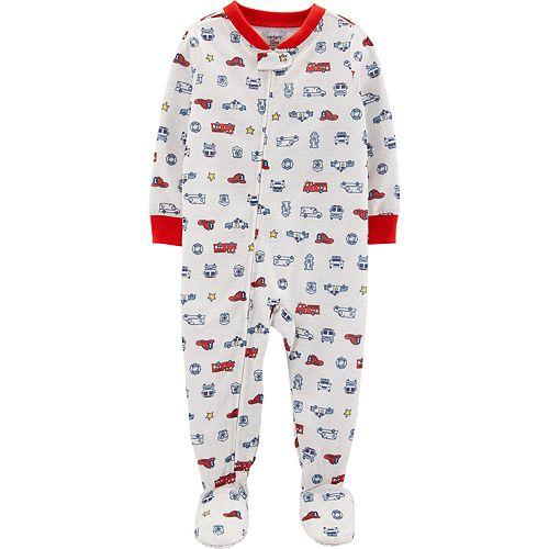 Toddler Boy Carter's Hero Vehicle Footed Pajamas
