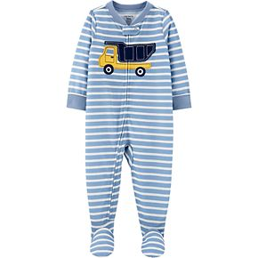 Toddler Boy Carter's Construction Footed Pajamas