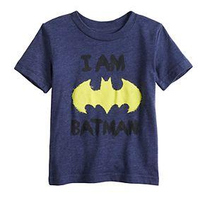 Baby Boy Jumping Beans® Scribble Bat Batman Logo Graphic Tee