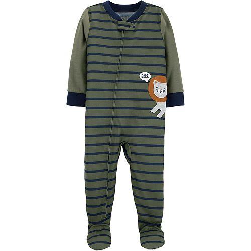Toddler Boy Carter's Lion Jersey Footed Pajamas