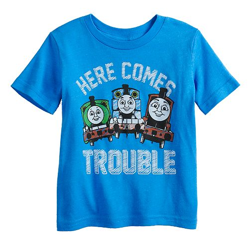 """Baby Boy Jumping Beans® Thomas the Train """"Here Comes Trouble"""" Graphic Tee"""