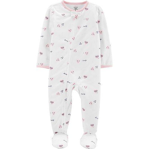 Toddler Girl Carter's Hearts Footed Pajamas