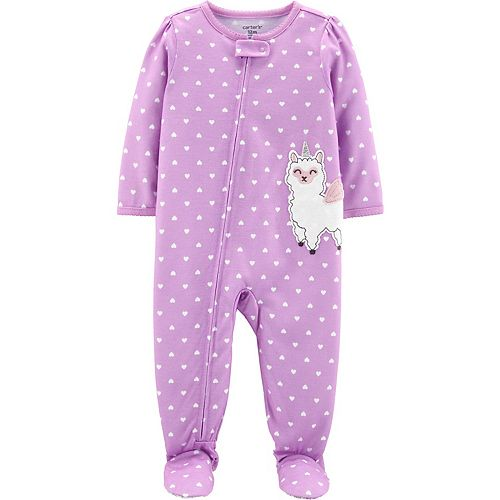 Toddler Girl Carter's Llama Unicorn Footed Pajamas