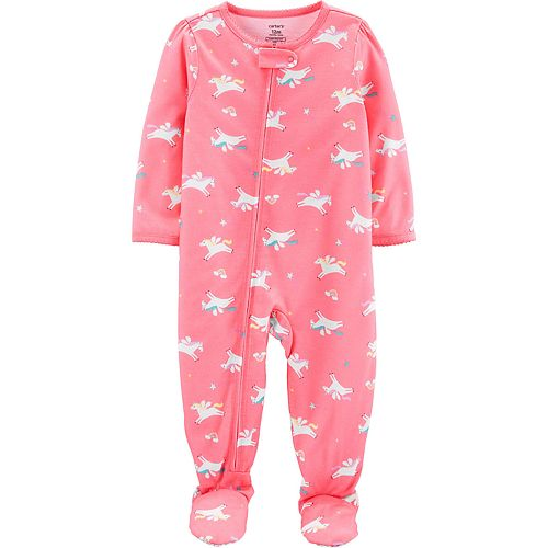 Toddler Girl Carter's Unicorn Footed Pajamas