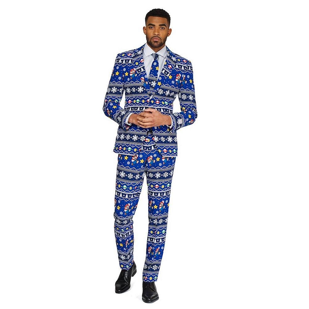 Men's OppoSuits Slim-Fit Merry Mario Suit