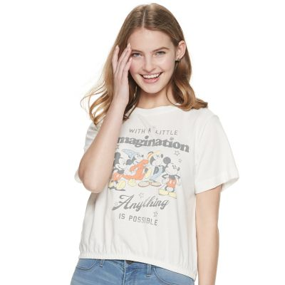 Juniors' Disney's Mickey Mouse Imagination Graphic Tee