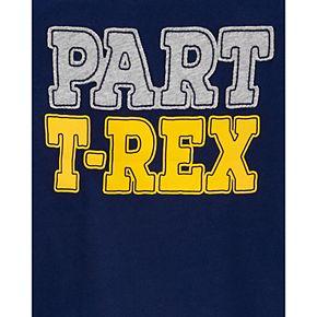 Toddler Boy Carter's 2-Piece Part T-Rex Layered-Look Tee & Dino Jogger Set