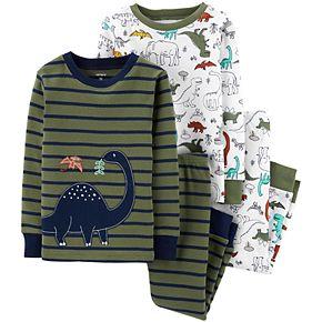 Toddler Boy Carter's 4-Piece Dinosaur Snug Fit Pajama Set