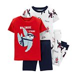 Toddler Boy Carter's 4-Piece Sloth Ninja Snug Fit Pajama Set