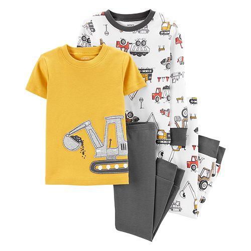 Toddler Boy Carter's 4-Piece Construction Snug Fit Pajama Set