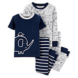 Toddler Boy Carter's 4-Piece Elephant Snug Fit Pajama Set