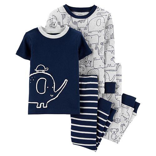 Toddler Boy Carter's 4-Piece Elephant Snug Fit Pajama Set