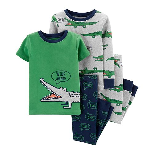 Toddler Boy Carter's 4-Piece Alligator Snug Fit Pajama Set