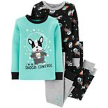 Toddler Boy Carter's 4-Piece Space Frenchie Snug Fit Pajama Set