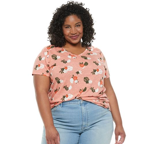 Plus Size EVRI™ Essential Print Casual Tee