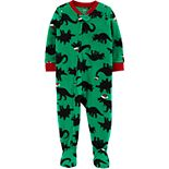 Baby Boy Carter's 1-Piece Dinosaur Fleece Footie PJs