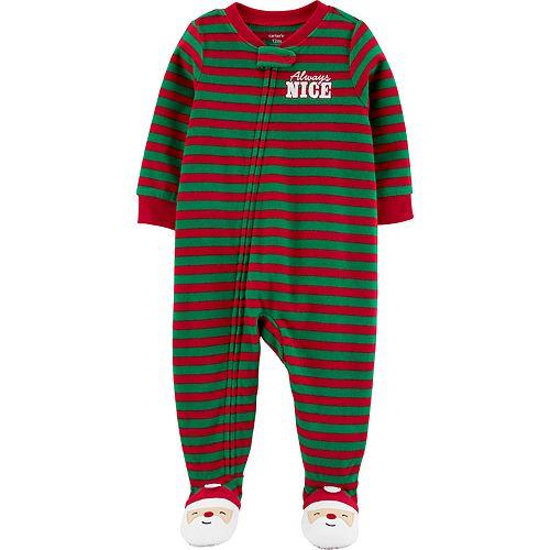 Baby Boy Carter's 1-Piece Santa Fleece Footie PJs
