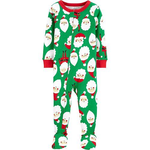 Baby Boy Carter's 1-Piece Christmas Santa Snug Fit Cotton Footie PJs
