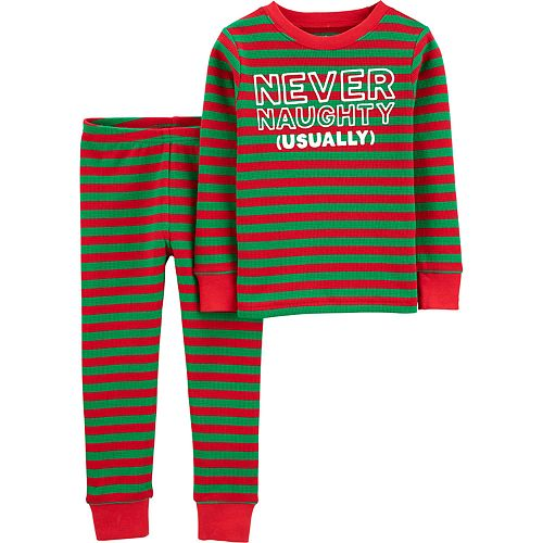 Baby Boy Carter's 2-Piece Christmas Snug Fit Thermal PJs