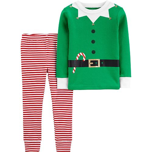 Baby Boy Carter's 2-Piece Elf Snug Fit Cotton PJs