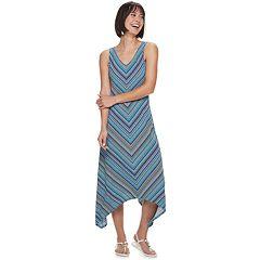 e4082031eb Women's Apt. 9® Sharkbite Strappy Maxi Dress. Multi Mitered Stripe Wine  Dotted Stripe Black White ...