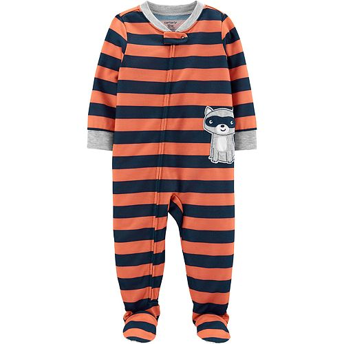 Baby Boy Carter's Raccoon Footed Pajamas