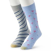 2-Pack GOLDTOE Novelty Crew Men's Socks
