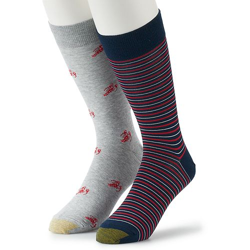 Men's GOLDTOE 2-pack Novelty Crew Socks