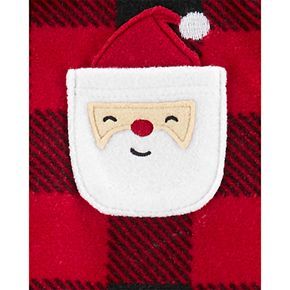 Toddler Boy Carter's 1-Piece Christmas Buffalo Check Fleece Footie PJs