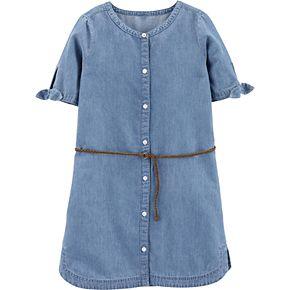 Girls 4-12 Carter's Denim Shirt Dress
