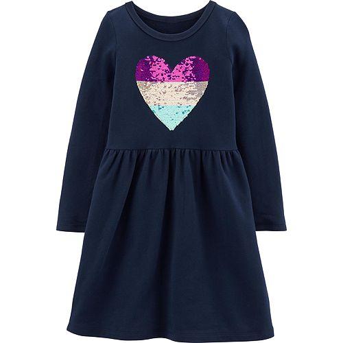 Girls 4-12 Carter's Sequin Heart Dress