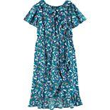 Girls 4-12 Carter's Horse Midi Faux Wrap Dress
