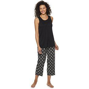 Women's Croft & Barrow® Smocked 2-Piece Pajama Set