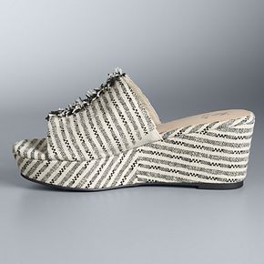 Simply Vera Vera Wang Braeburn Women's Wedge Sandals