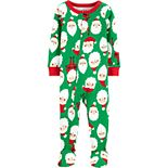 Toddler Boy Carter's 1-Piece Christmas Santa Snug Fit Cotton Footie PJs