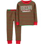 Toddler Boy Carter's 2-Piece Christmas Snug Fit Thermal PJs