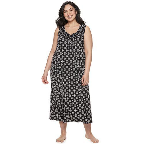 Plus Size Croft & Barrow® Smocked Long Nightgown