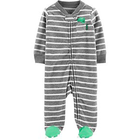 Baby Boy Carter's Dinosaur Zip-Up Fleece Sleep & Play