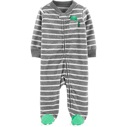 Baby Boy Carter's Dinosaur Zip-Up Fleece Sleep & Play