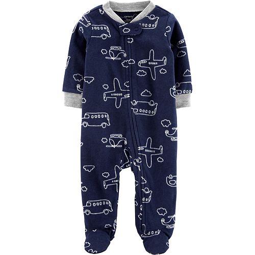 Baby Carter's Airplane Zip-Up Fleece Sleep & Play