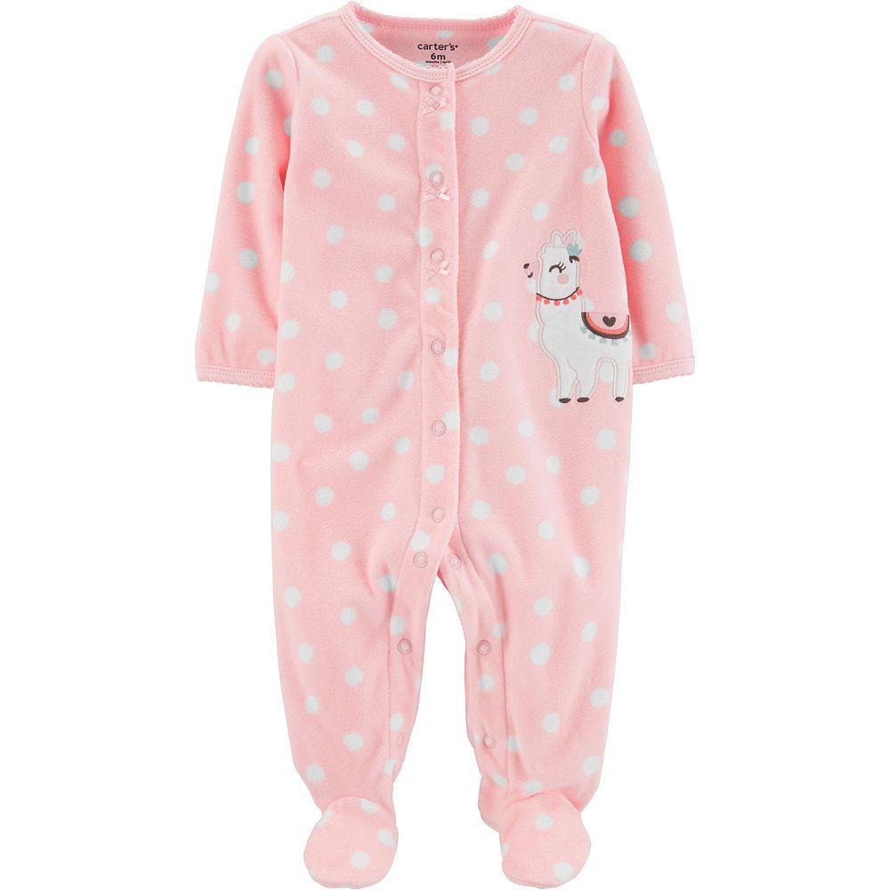 Baby Girl Carter's Llama Snap-Up Fleece Sleep & Play