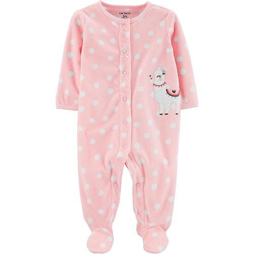 Baby Girl Carter's Llama Snap-Up Fleece Sleep & Play