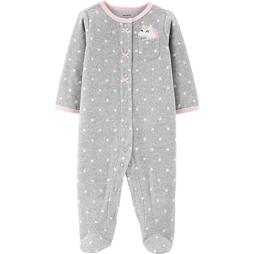 Baby Girl Carter's Unicorn Snap-Up Fleece Sleep & Play