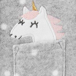 Baby Girl Carter's Unicorn Snap-Up Fleece Sleep & Play