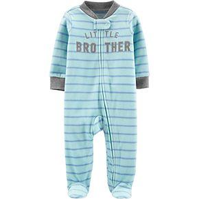 "Baby Boy Carter's ""Little Brother"" Fleece Sleep & Play"