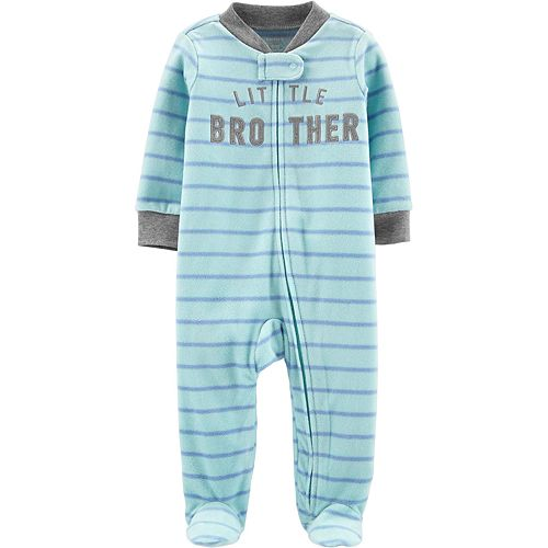 "Baby Boy Carter's ""Little Brother"" Fleece Sleep & Play"
